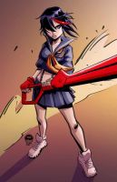 Ryuko  Kill La Kill - Spring Special Commish by EryckWebbGraphics