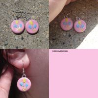 Pinkie Pie Cutie Mark Earrings by ChibiSilverWings