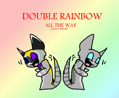 DOUBLE RAINBOW ALL THE WAY by Tobi501