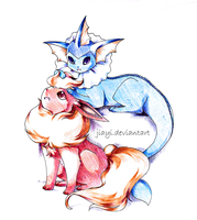 Pen Commission: Flare and Vap by Jiayi