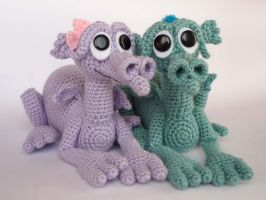 Swamp dragon babies by LunasCrafts