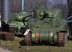 WoT Scene in Real Life (IS-2 and M4A1) by DavidKrigbaum