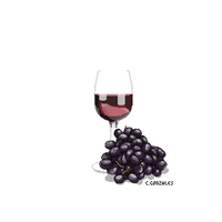 Wine and Grapes. transparent png by gunzy1