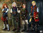 Final Fantasy 3 steampunk/victorian style by shizonek