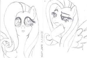 Fluttershy Double by lcponymerch
