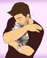 Kitty snuggle!! by JokerSyndrom