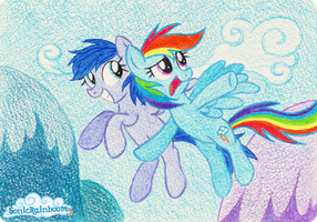 Star Glance and Rainbow Dash. by SonicRainboomZ