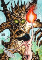 BRAIIINZ BEAUTY AND MYTH SKETCH CARD by JASONS21