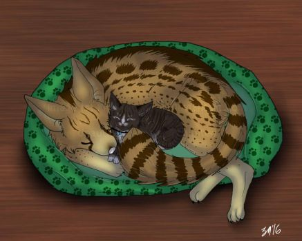 Cuddes COMM by Kittykat-Meow