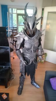 Skyrim Deadric armour fully done! by talkenia