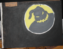 Oogie Boogie shadow by emobear