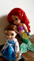 ariel and belle by AngeniaC