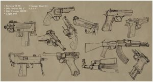 Gun Study by WhipsmartMcCoy