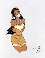 Pocahontas in did Color vers by gustorak