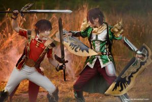 Dynasty Warrior 8 - Lu Xun vs Guan Xing by vaxzone