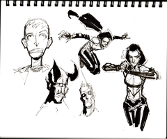 lunch doodles dhampir and stuff by GilTriana