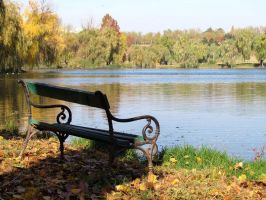 Bench on the Lakeside by helice93