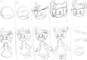 how to draw amy rose by RACHLOVEDRAW