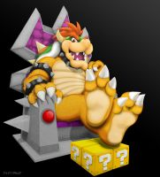 Bowser's feet up by Foot-paws