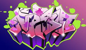 digital graffiti letters by polyakov
