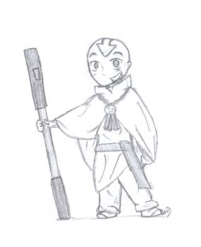 A-TLA : Aang Chibi by dattabayo