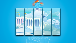 Rainbow Dash 'Minimal' Loyalty Wallpaper by BlueDragonHans