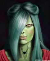 Green Girl by kfeeras