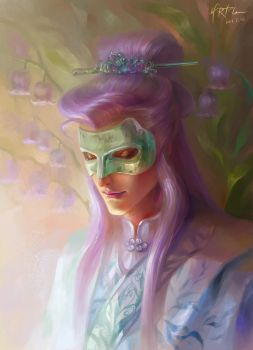 Jade Mask by HRFleur