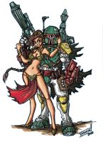 Colors Boba Fett Slave Leia 2 by Warhound-CMP