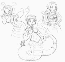 Naga-Lamia-Snake Lady Thing by CaramelKitt