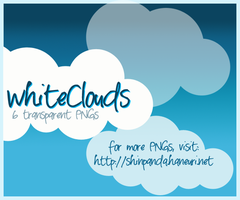 PNG PACK 3 - White Clouds by chazzief