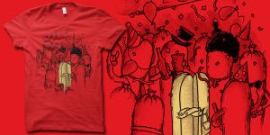 Sausage Party t-shirt by biotwist