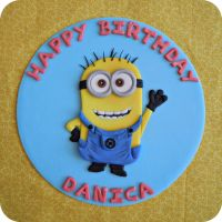 Minion Cake Topper by cake4thought