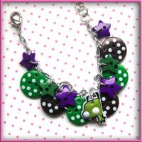 Gir Button Bracelet by SugarAndSpiceDIY