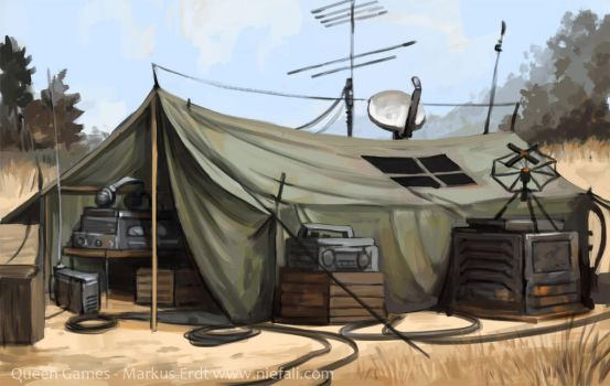 Armageddon - Communication tent by Vaejoun
