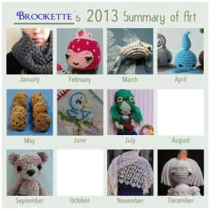 2013 Summary of Art by Brookette