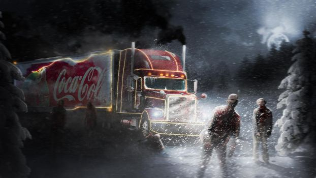 Christmas truck in zombie apocalypse by dhavlin