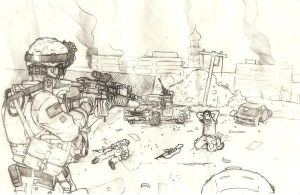 firefight sketch by FerventBadger
