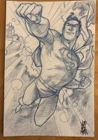 Superman 2 Sketch Card by hyperjack08