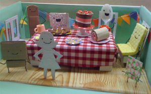 Tea-party diorama by philippajudith