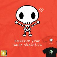 Embrace Your Inner Skeleton - tee by InfinityWave