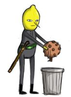 Lemongrab takes out the trash by teuf-eL