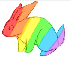 Rainbow Bunny by Lexi247