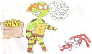 Mikey vs The Noid by SithVampireMaster27