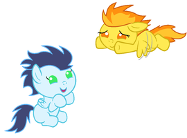 Baby Spitfire and Soarin by Beavernator