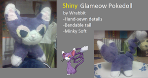 Shiny Glameow Pokedoll by theamazingwrabbit