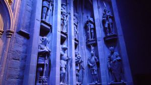 The Statues by the Great Hall by hellonlegs