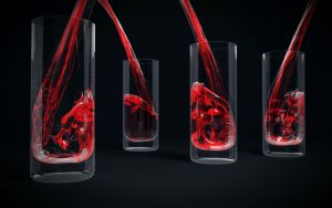 Glass with Red Liquid by alexandergeorgieff