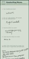 Handwriting Meme by Usu-mi