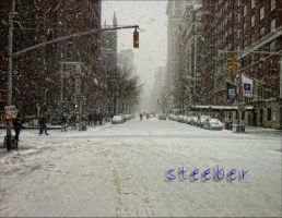 5th Avenue, North, in Snow by steeber